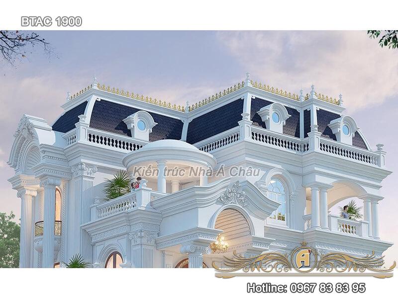 Mẫu biệt thự 3 tầng tân cổ điển BTAC 1900