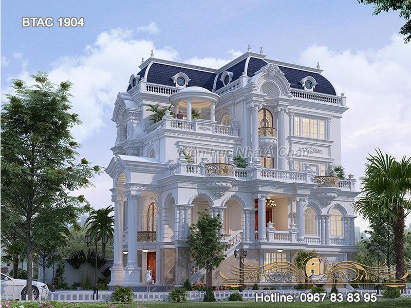 Thiết kế biệt thự 3 tầng BTAC 1904