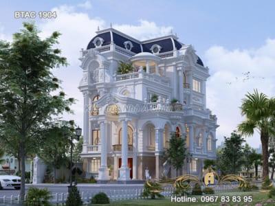 Bật mí mẫu biệt thự trắng kiến trúc tân cổ điển được ưa chuộng nhất năm - BTAC 1904