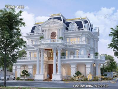 Biệt thự trắng 3 tầng nổi bật nhất Quảng Ninh – BTAC 1905