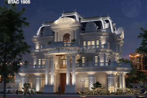 Biệt thự trắng 3 tầng đẹp BTAC 1905