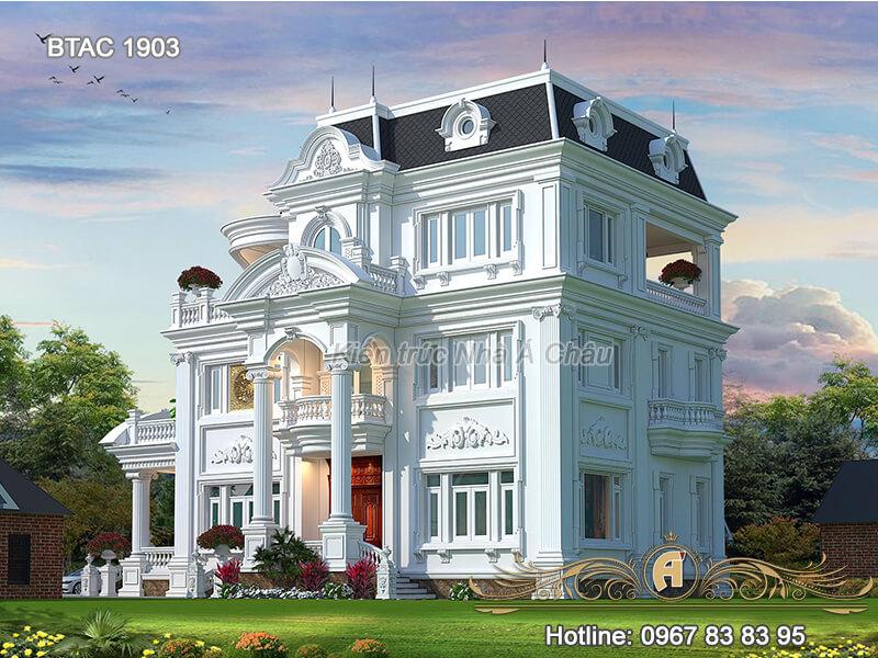 Mẫu biệt thự 3 tầng tân cổ điển BTAC 1903