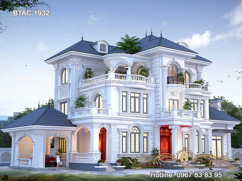 Thiết kế nhà biệt thự 3 tầng BTAC 1932