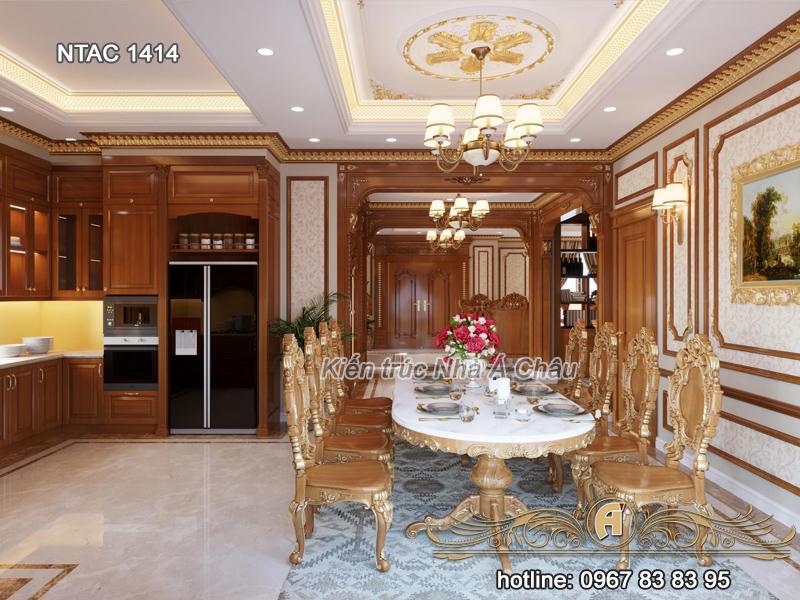 Thiết kế nội thất phòng bếp ăn NTAC 1414