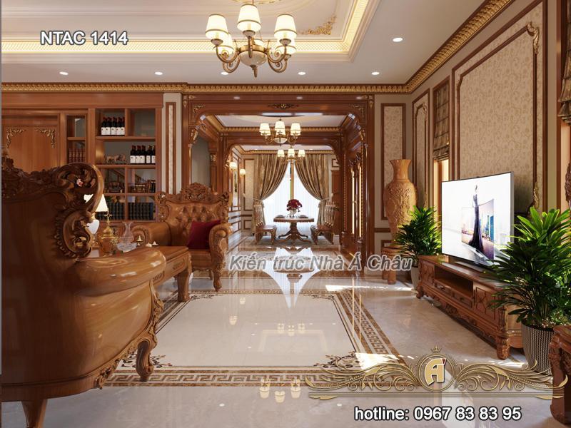 Thiết kế nội thất phòng khách NTAC 1414