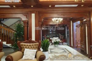 Thiết kế nội thất phòng khách biệt thự - NTAC 1308