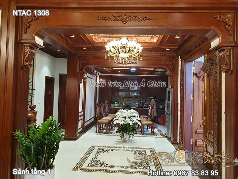 Sảnh tầng 1 và phòng bếp- NTAC 1308