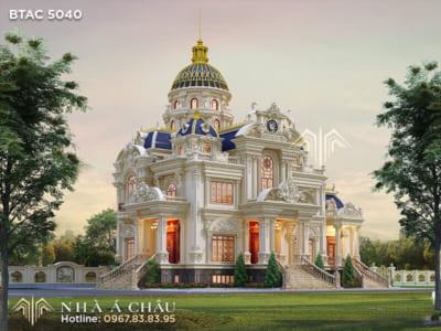 Biệt thự lâu đài Pháp BTAC 5040 - Kiến trúc xa hoa của giới thượng lưu