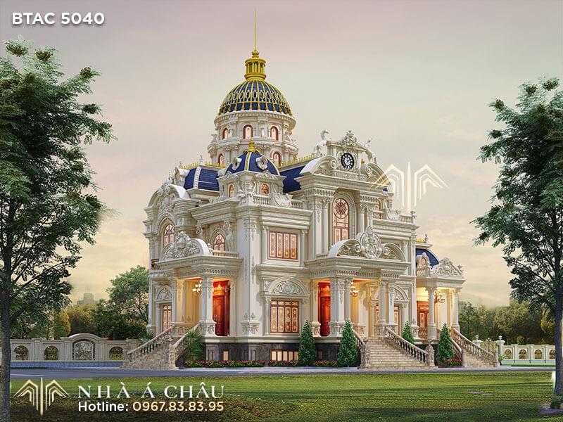 Biệt thự lâu đài Pháp BTAC 5040 – Kiến trúc xa hoa của giới thượng lưu