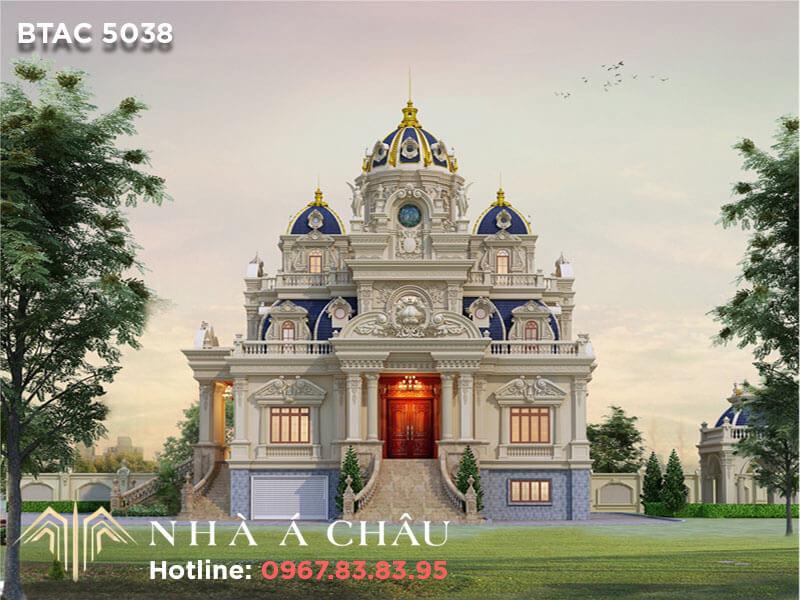 Thiết kế lâu đài 3 tầng kiểu Pháp tinh tế sang trọng – BTAC 5038