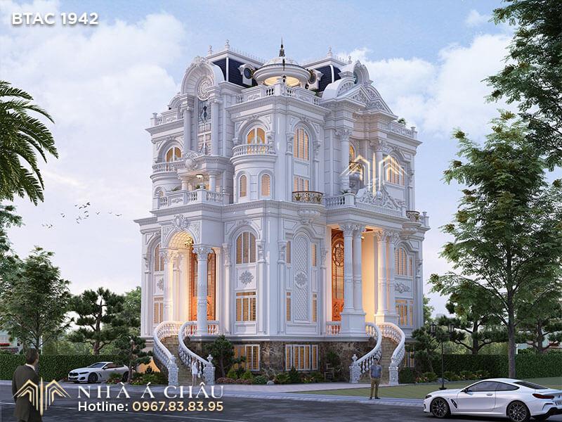 nhà đẹp kiến trúc pháp, mẫu nhà đẹp kiến trúc pháp