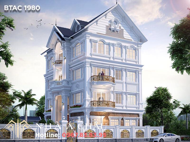 Say đắm trước vẻ đẹp kiến trúc biệt thự tân cổ điển mái Thái BTAC 1980