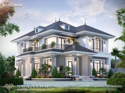 Mẫu nhà đẹp 2 tầng hiện đại BTAC 1808 được yêu thích nhất